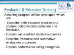 evaluator educator training