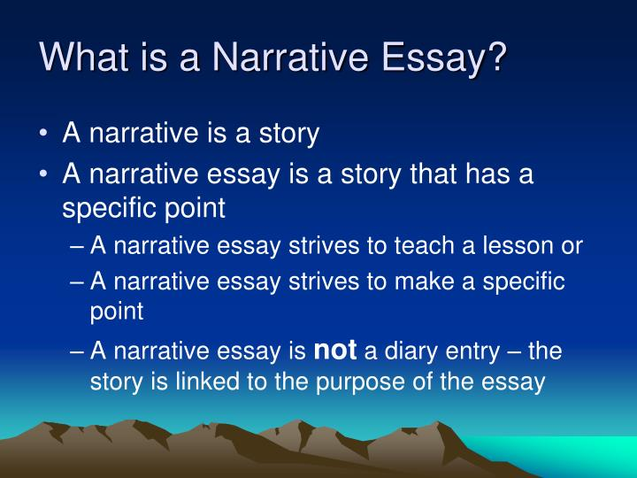 narrativ essay