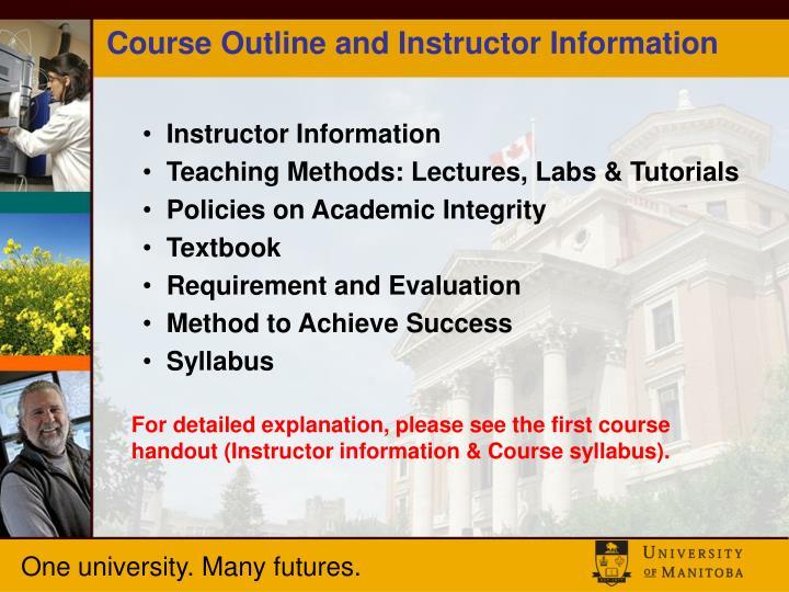 course handout
