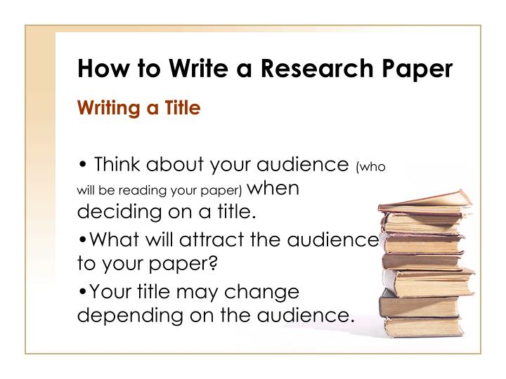 how to write a great research paper ppt