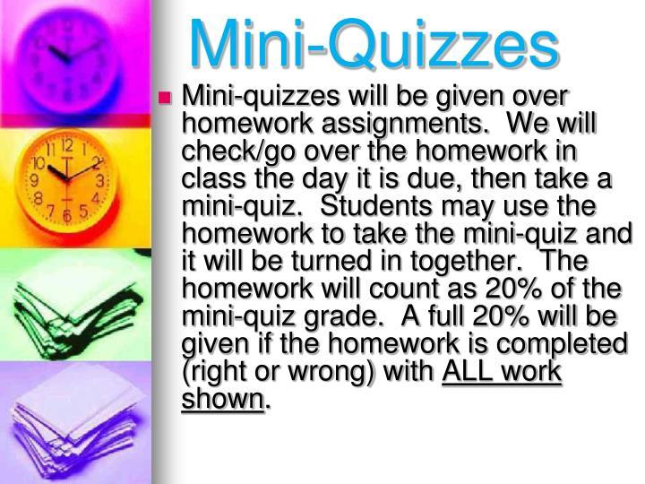 Mini-Quizzes