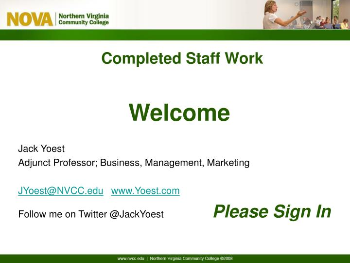 completed staff work template
