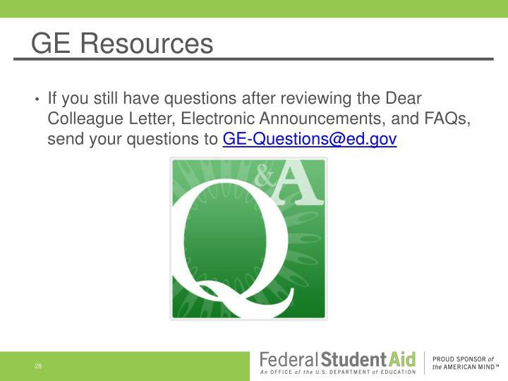 GE Resources
