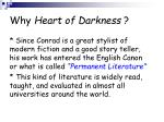 why heart of darkness