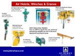air hoists winches cranes