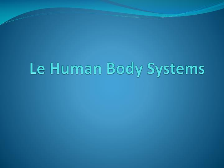 le human body systems n.