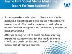 how to hire social media marketing expert for your business7
