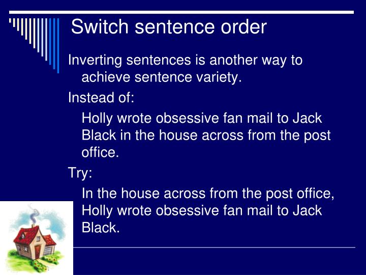 Switch sentence order