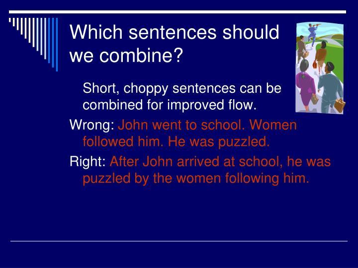 Which sentences should