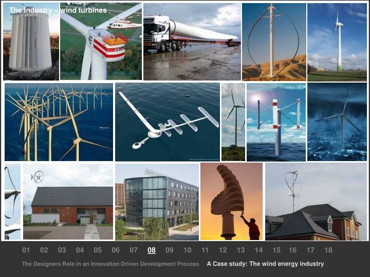 The Industry – wind turbines