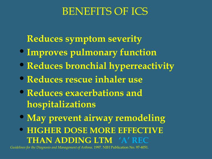 BENEFITS OF ICS