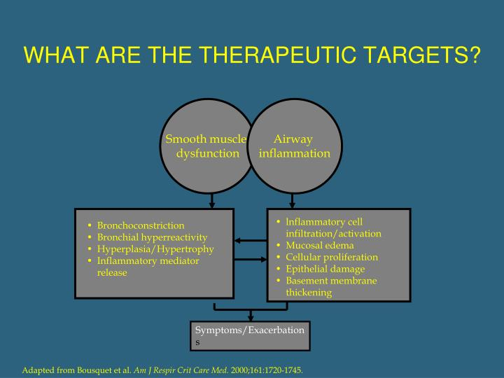 WHAT ARE THE THERAPEUTIC TARGETS?