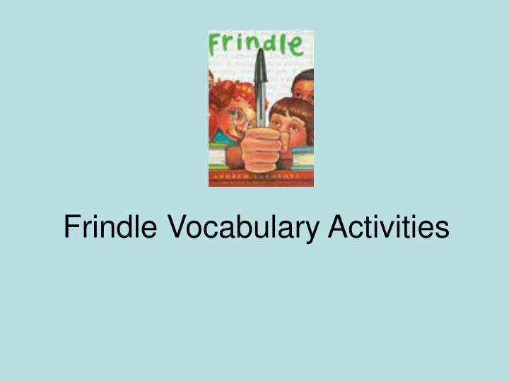 frindle vocabulary activities n.