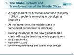 the global growth and transformation of the middle class