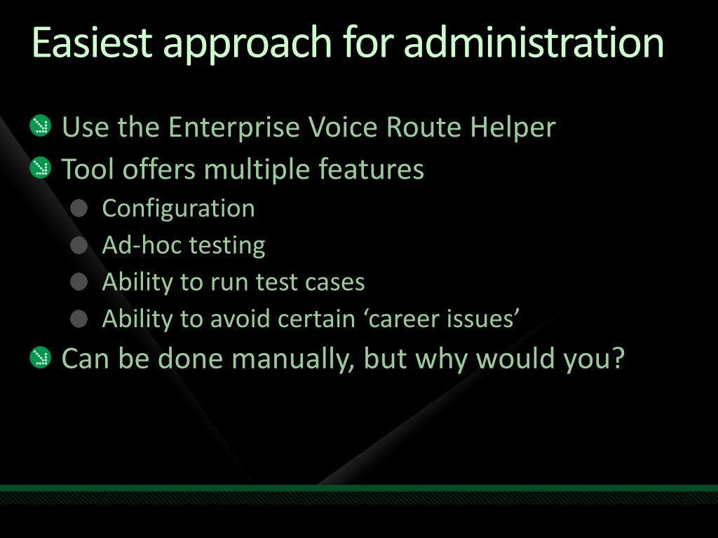 PPT - Voice Administration & Monitoring for Microsoft Office