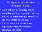 phylogenetic trees based on neighbor joining