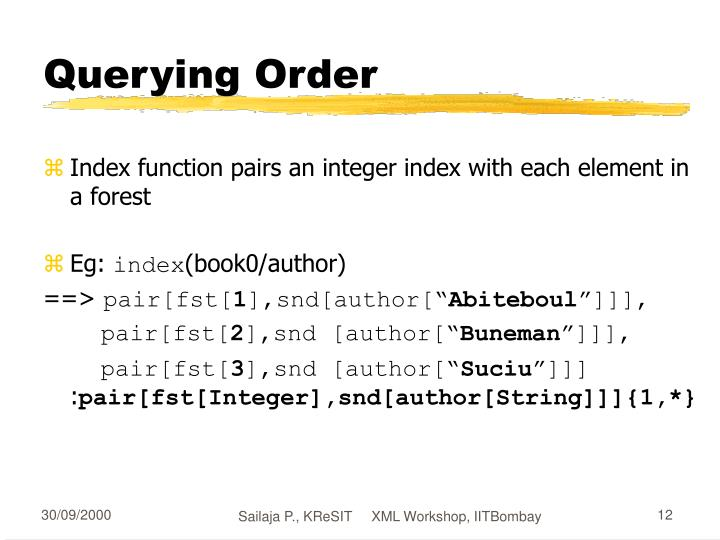 Querying Order