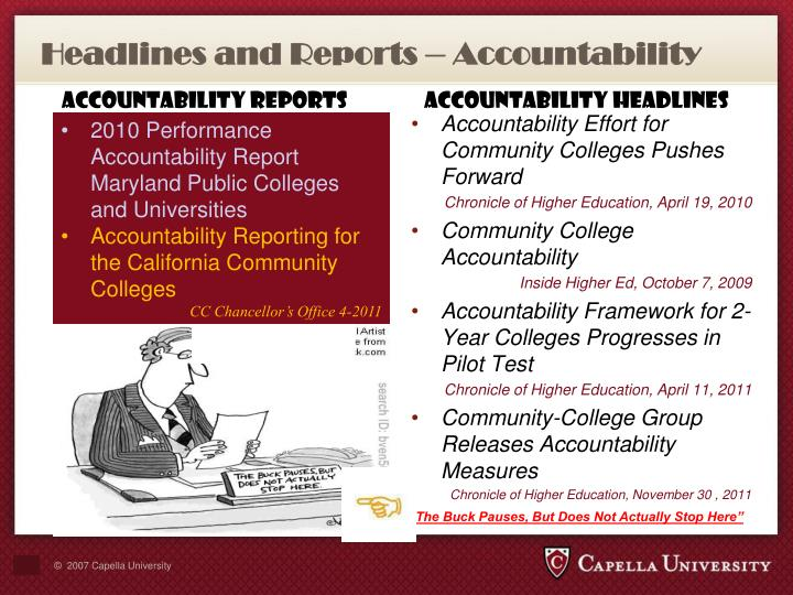 Headlines and Reports – Accountability