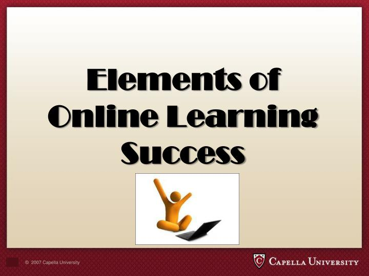 Elements of Online Learning Success