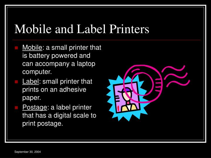 Mobile and Label Printers
