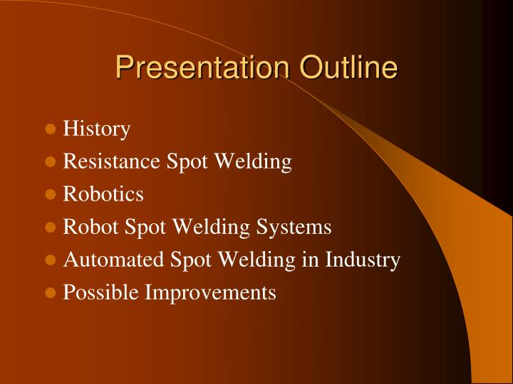 Ppt Automated Spot Welding Powerpoint Presentation Id 1145325