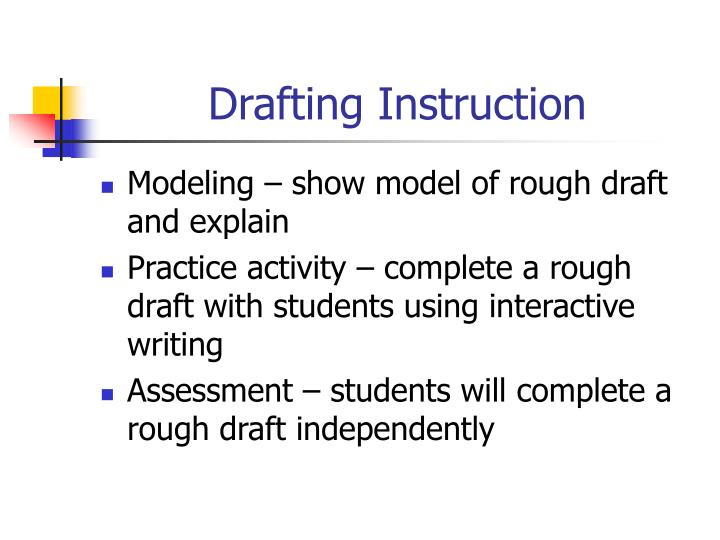 Drafting Instruction