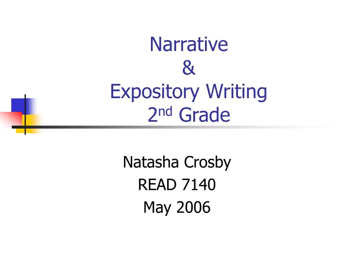 Narrative expository writing 2 nd grade