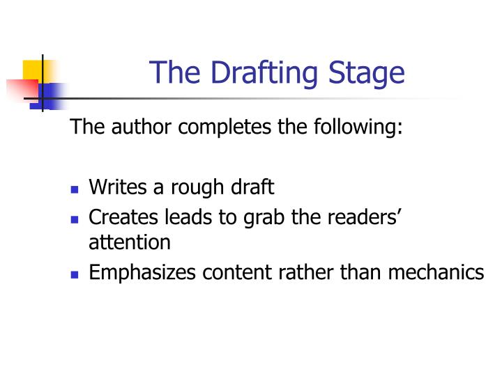 The Drafting Stage