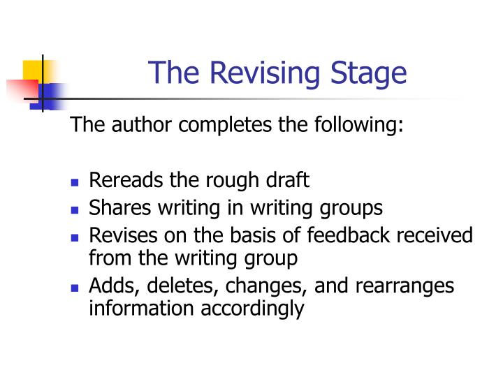The Revising Stage
