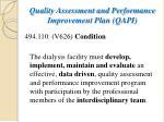quality assessment and performance improvement plan qapi