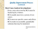 quality improvement process continued2