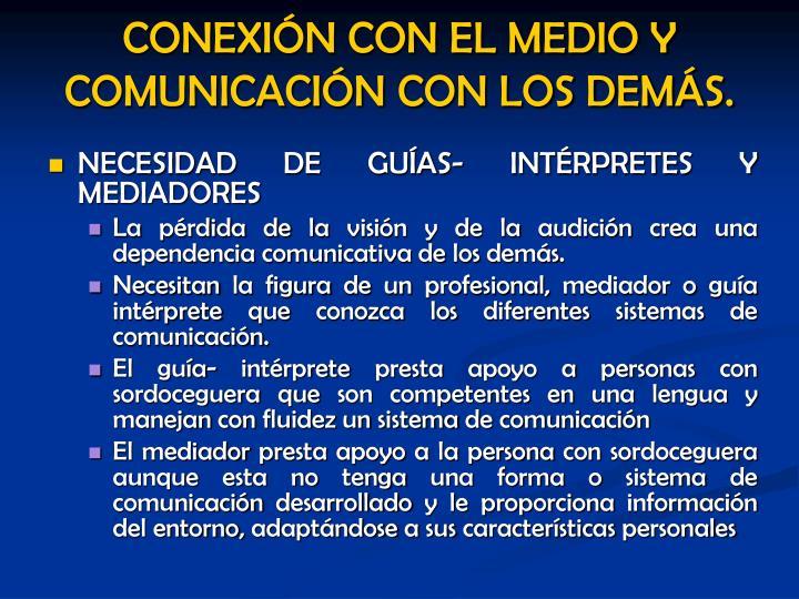 NECESIDAD DE GUÍAS- INTÉRPRETES Y MEDIADORES