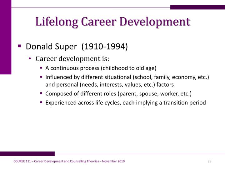 Lifelong Career Development
