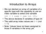 introduction to arrays2