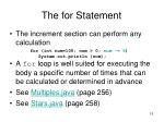 the for statement3