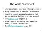 the while statement2