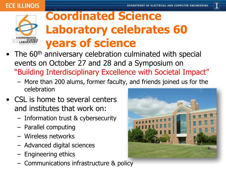 Coordinated Science Laboratory celebrates 60 years of science