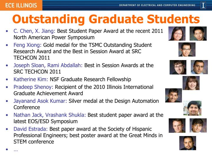 Outstanding Graduate Students