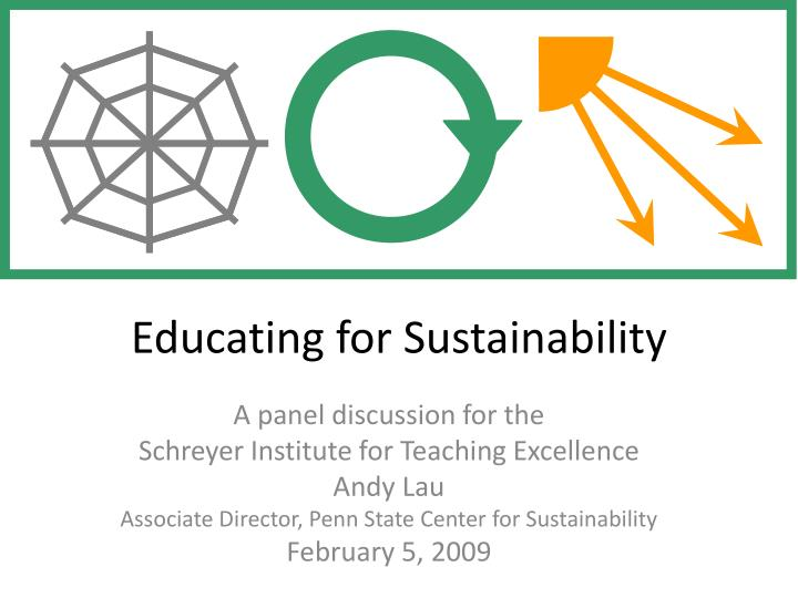 educating for sustainability n.