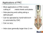 applications of pac