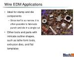 wire edm applications