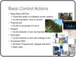 basic control actions