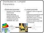 distributed vs lumped parameters