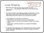loop shaping