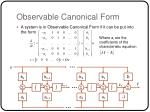 observable canonical form
