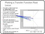 plotting a transfer function root locus