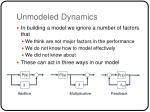 unmodeled dynamics