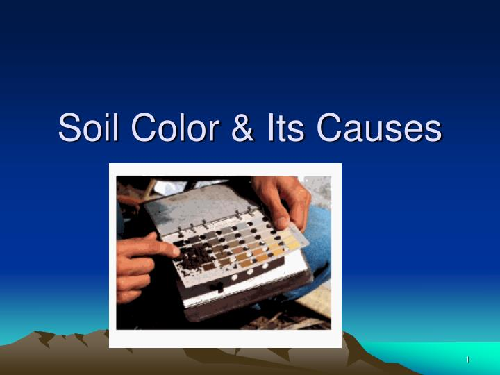 soil color its causes n.