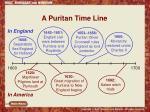 a puritan time line