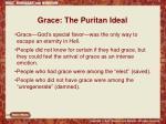 grace the puritan ideal